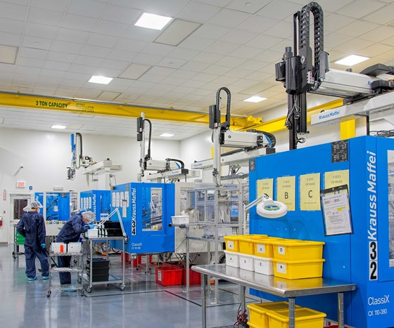 Octex expanded clean room with KraussMaffei CX injection molding machines