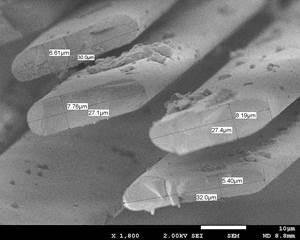 flat glass fibers