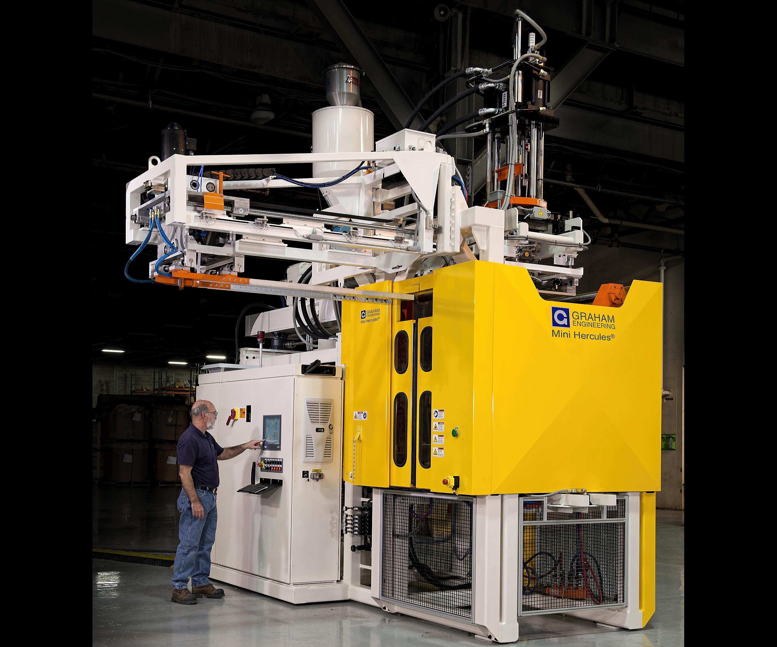 Graham Engineering Mini Hercules accumulator blow molder