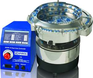 Spirol Series 2000 bowl feeder with Mark VI control