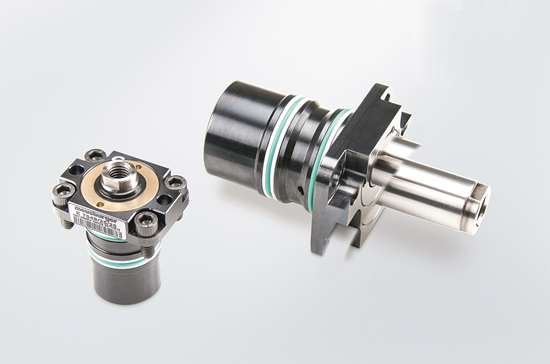 """Meusburger E 7048 """"build-in"""" cylinder with flange"""