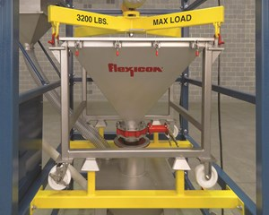 Flexicon IBC Discharger Accomodates Low Headroom