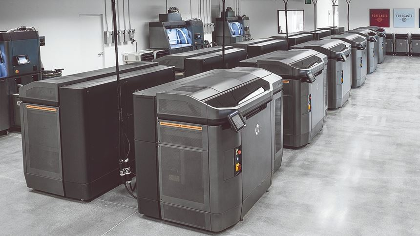 Forecast 3D HP Multi Jet Fusion 3D printer systems