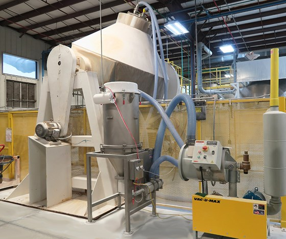 Direct Charge Blender Loading Systems continuously transfer bulk materials directly into the process, without spills and waste, eliminating stair-climbing with drums and boxes, while minimizing clean-up and dust exposure.