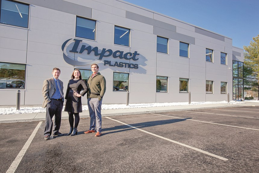 Impact Plastics Chris Ryan, Natalie K. MacVarish, and Blake Kingeter.
