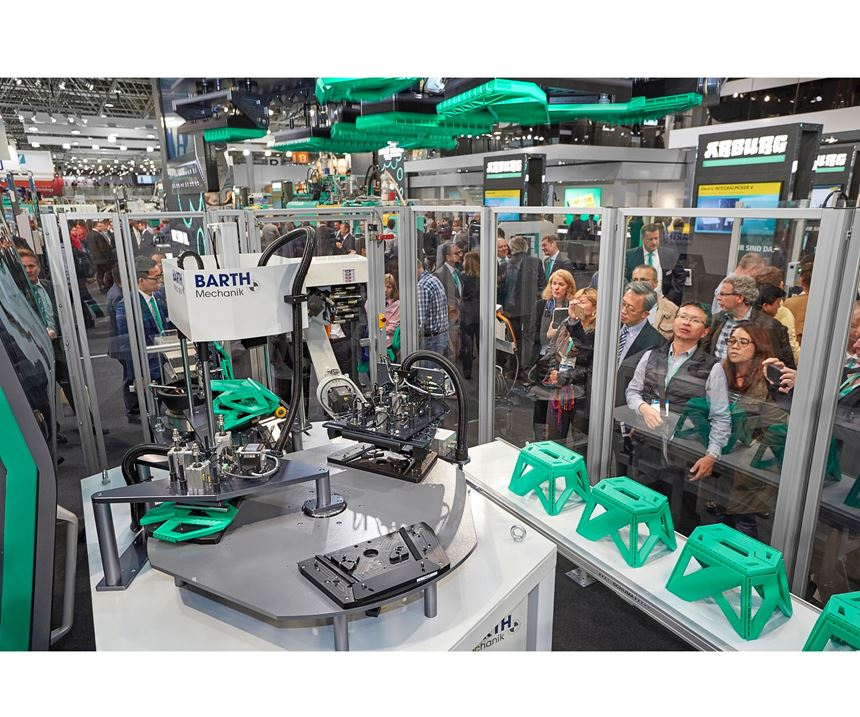 Robotic assembly with Arburg Allrounder 1120 H