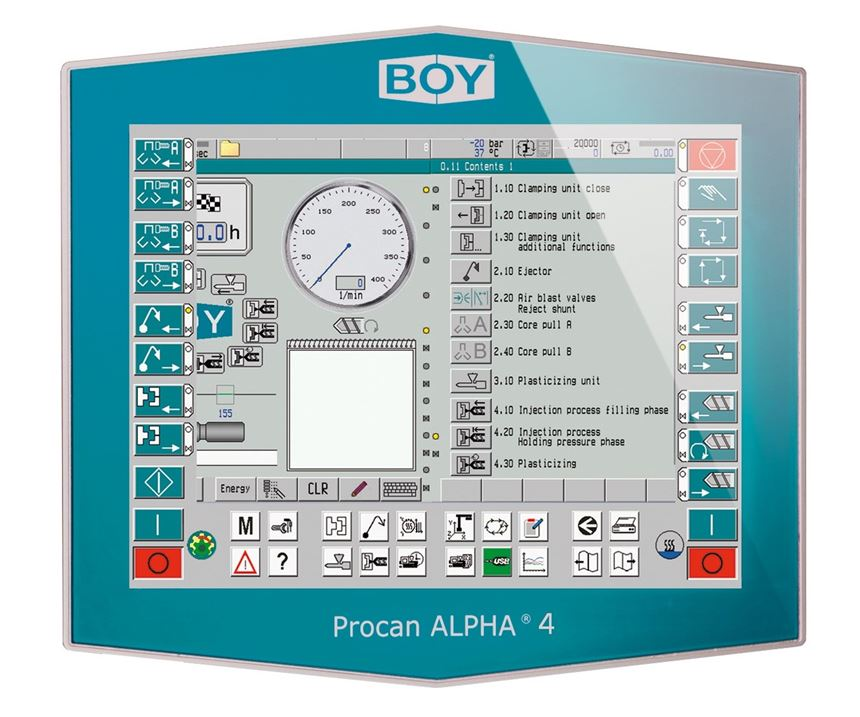 Boy Machine's new Procan Alpha 4 controller is equipped for Industry 4.0 and can program Boy's new robots.