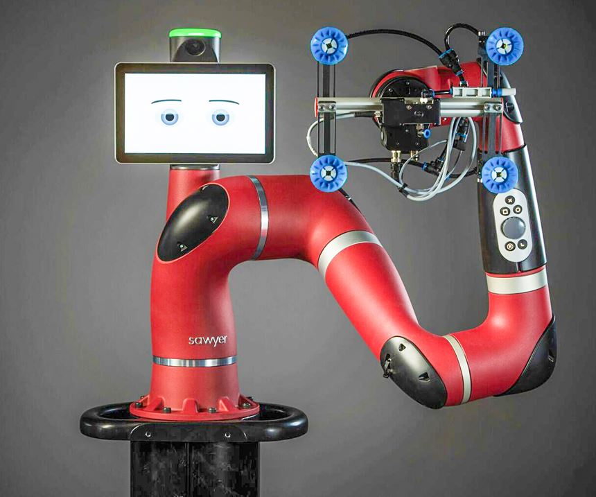 Collaborative robots, like Rethink Robotics' Sawyer,