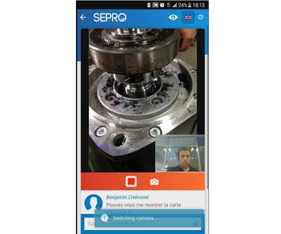 Sepro Live Support offers remote troubleshooting of robots.