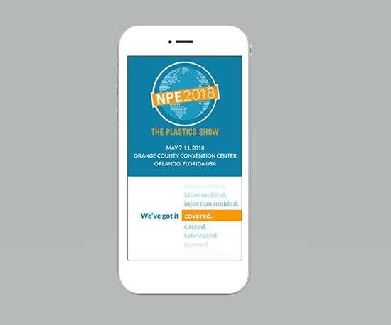 NPE2018 app on a smartphone