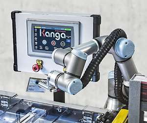Universal Robots cobot feeds product into Kanga Poucher