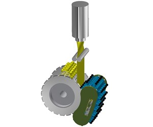 Wilmington Machinery concept for continuous extrusion and rotary thermoforming with plug assist