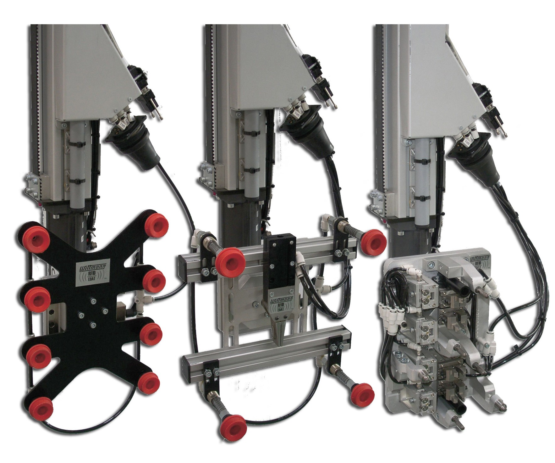 Wittmann Battenfeld robot end-of-arm tooling uses RFID chips for identification