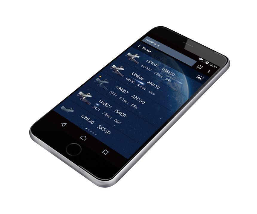 Smartphone interface for Yushin's new Intu Line