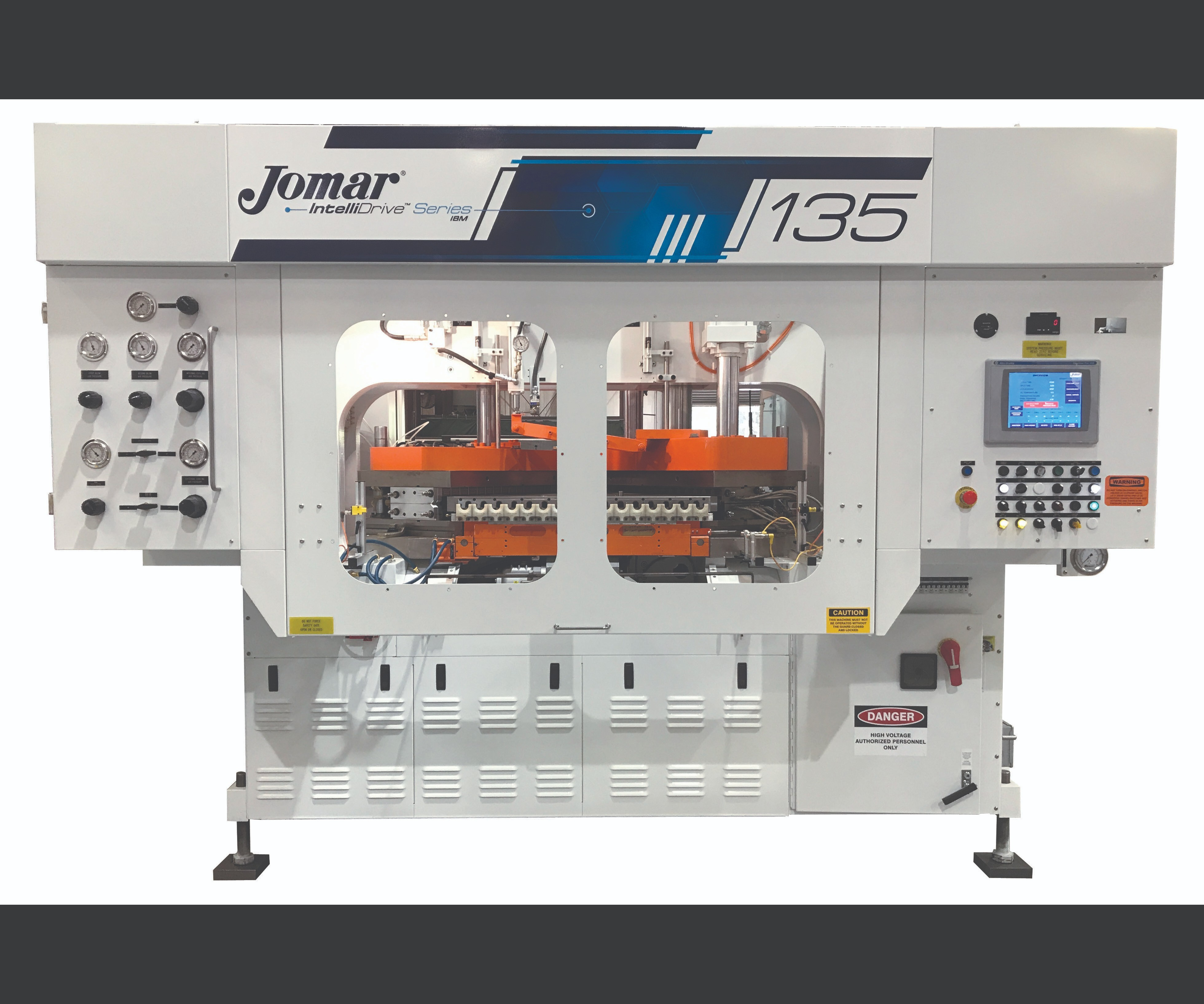 Jomar IntelliDrive injection-blow molding machines with Bosch Rexroth VFD on the hydraulic pump.