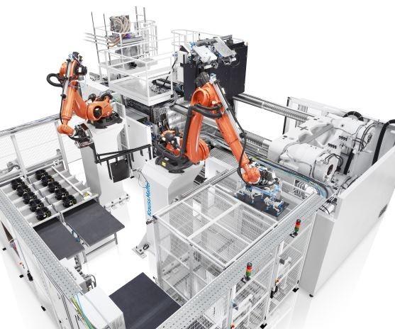 Krauss Maffei GXW 450-2000/1400 multi-component injection molding machine.
