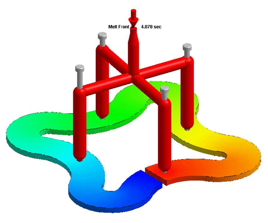 Moldex 3D R16 models valve-pin movement