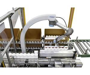 Proco Machinery's Robo Packer case packer Universal Robots.