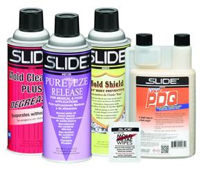 Mold care products from Slide Products.