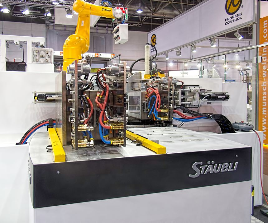 Staubli quick-mold-change cell for Single-Minute Exchange of Die
