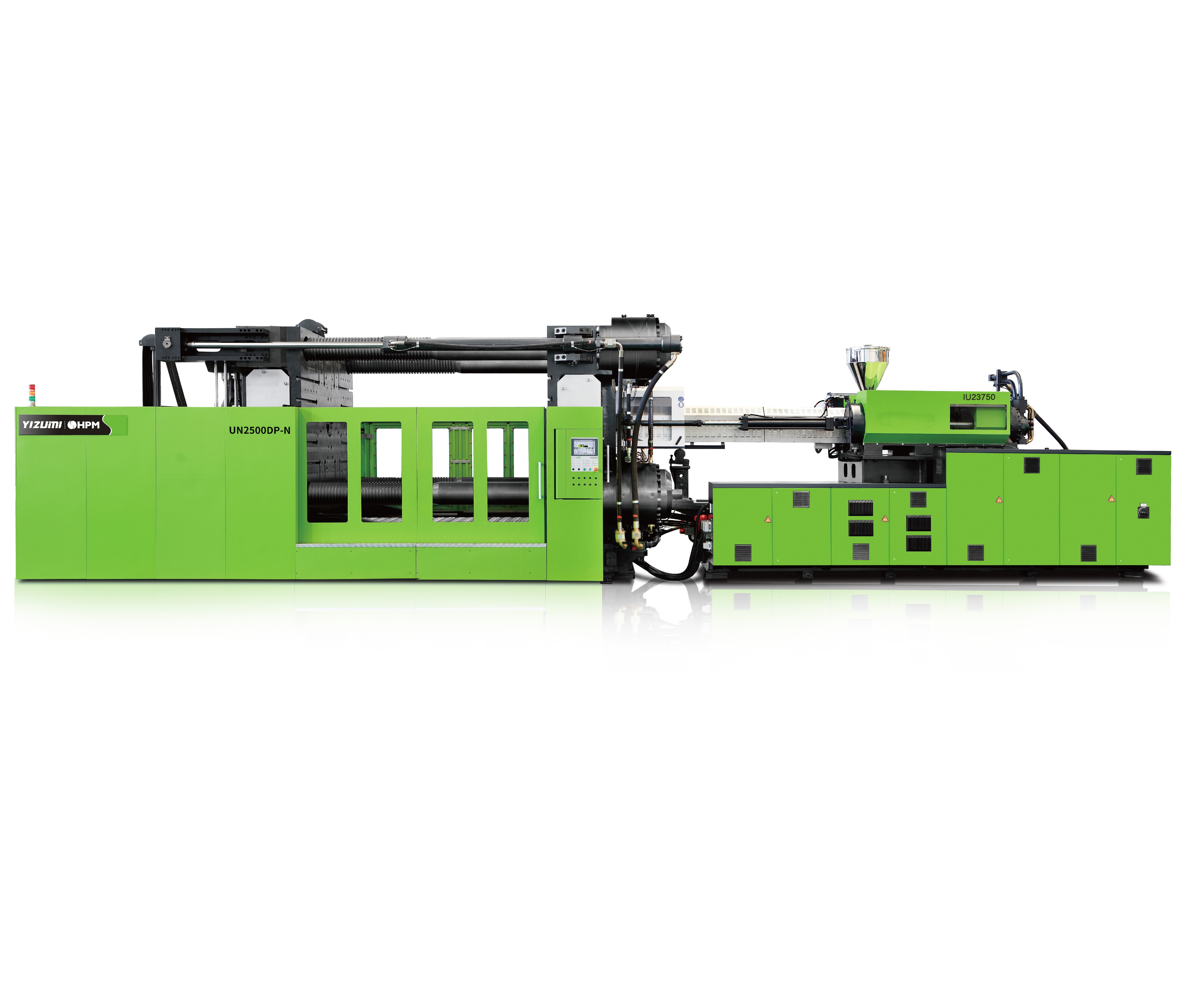 Yizumi DP-N line of two-platen, servo-hydraulic presses