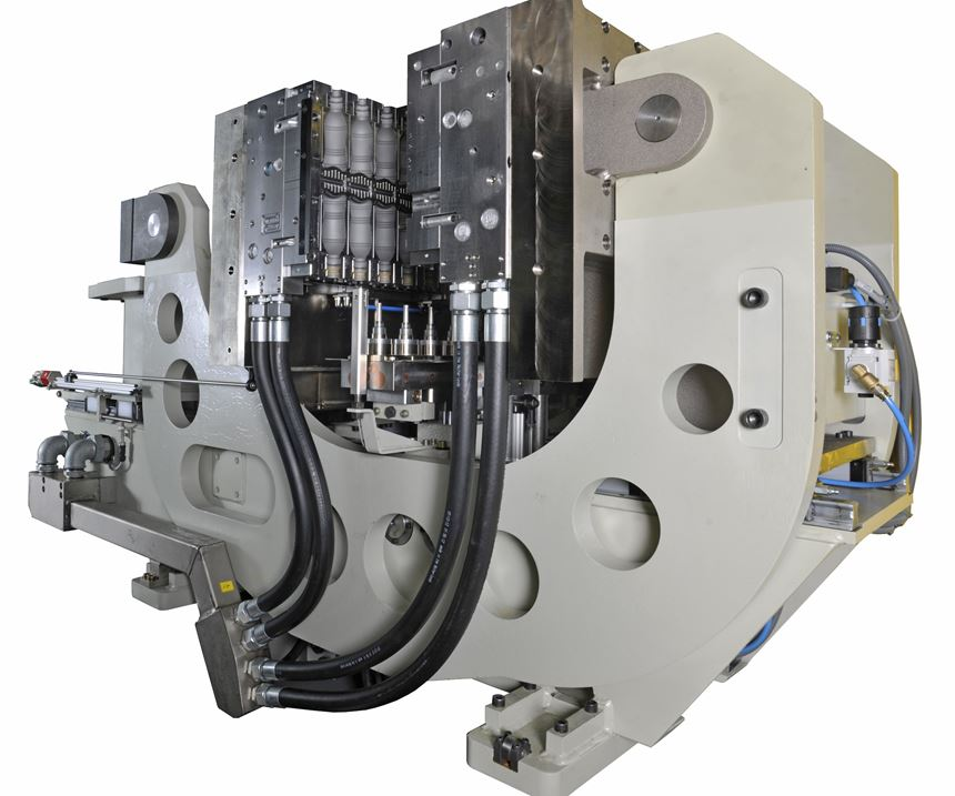 Bekum's C-clamp has been successful in EPET extrusion blow molding