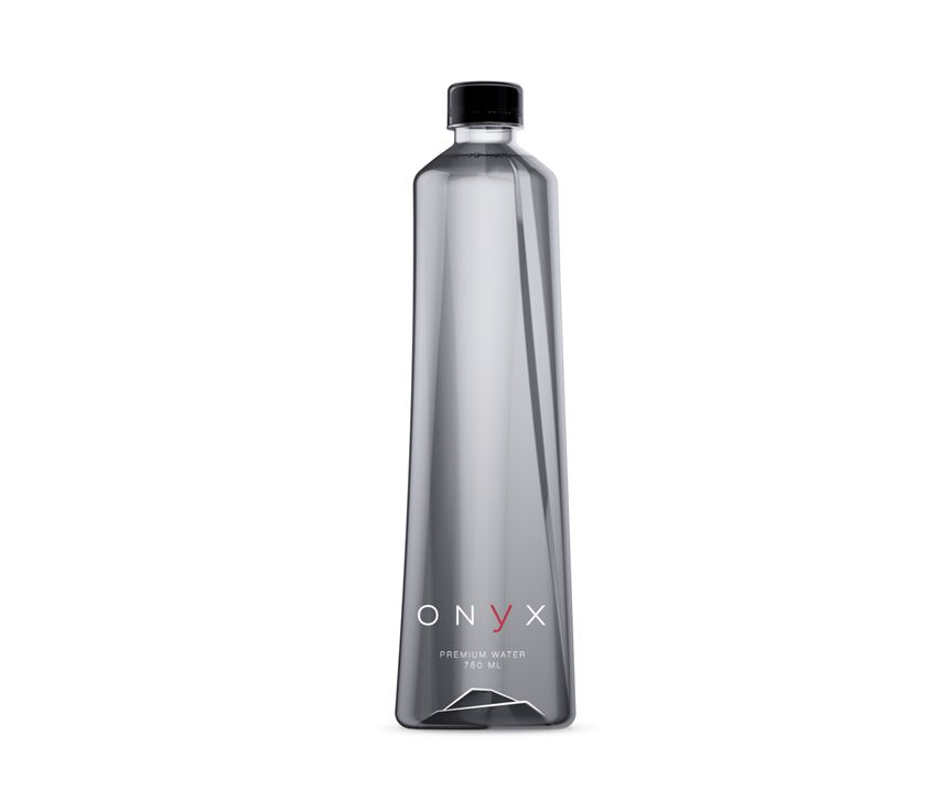 This unusually shaped water bottle was designed by PET Engineering.