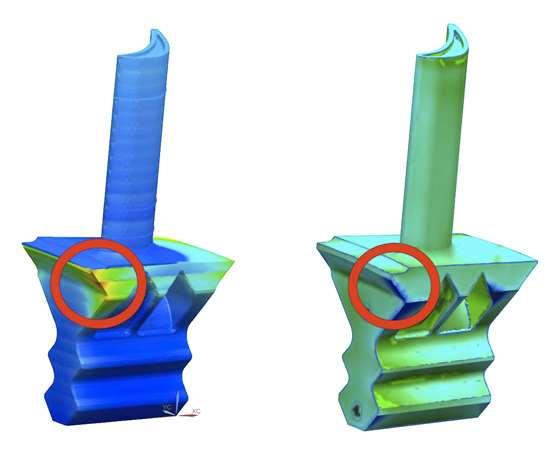 Siemens Simcenter 3D AM Process Simulation: predicted vs. actual