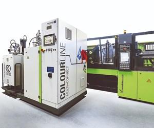 Hennecke Colourline unit for Engel clearmelt process