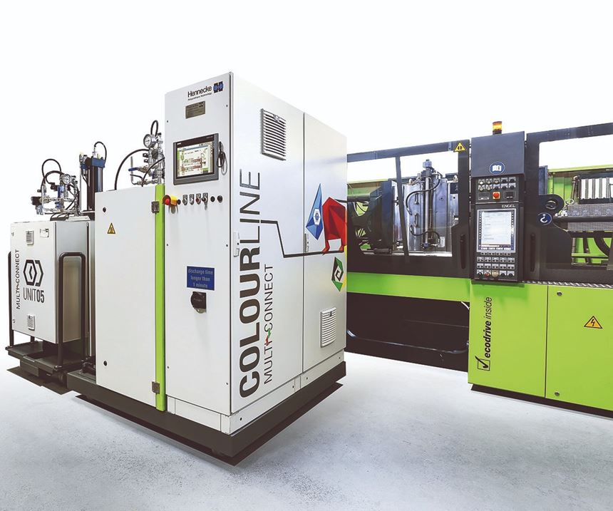Hennecke Colourline unit for Engel clearmelt process