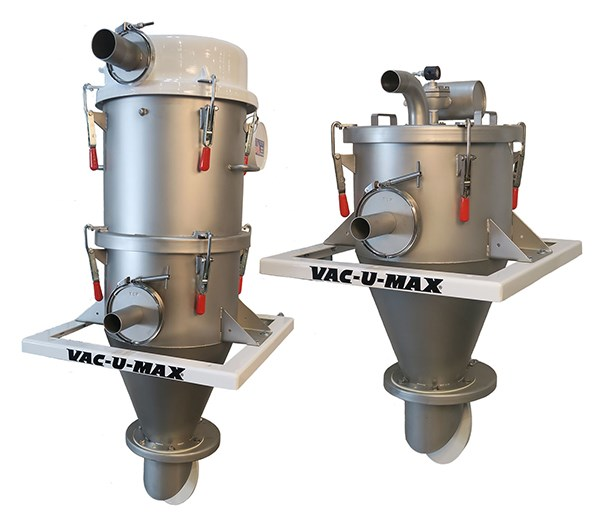 The Signature Series of receivers from Vac-U-Max caters to vacuum conveying demands and can convey resin materials up to 3,500 lbs./hr.