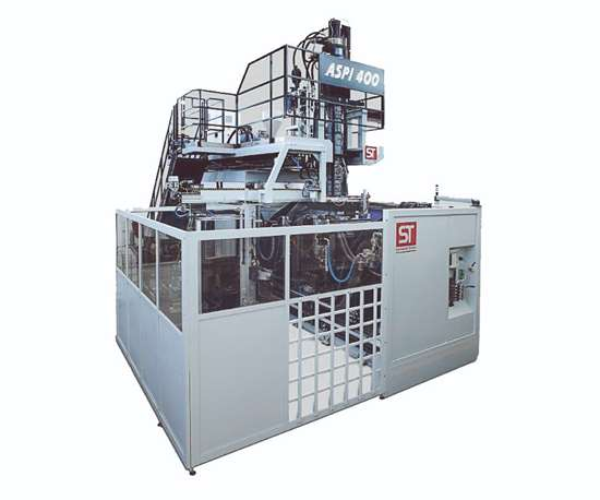 ASPI 400 3D suction blow molder from S.T. Blow Moulding