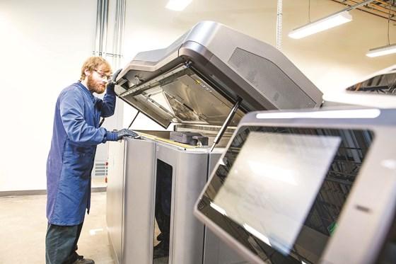 Protolabs HP Multi Jet Fusion 3D printer