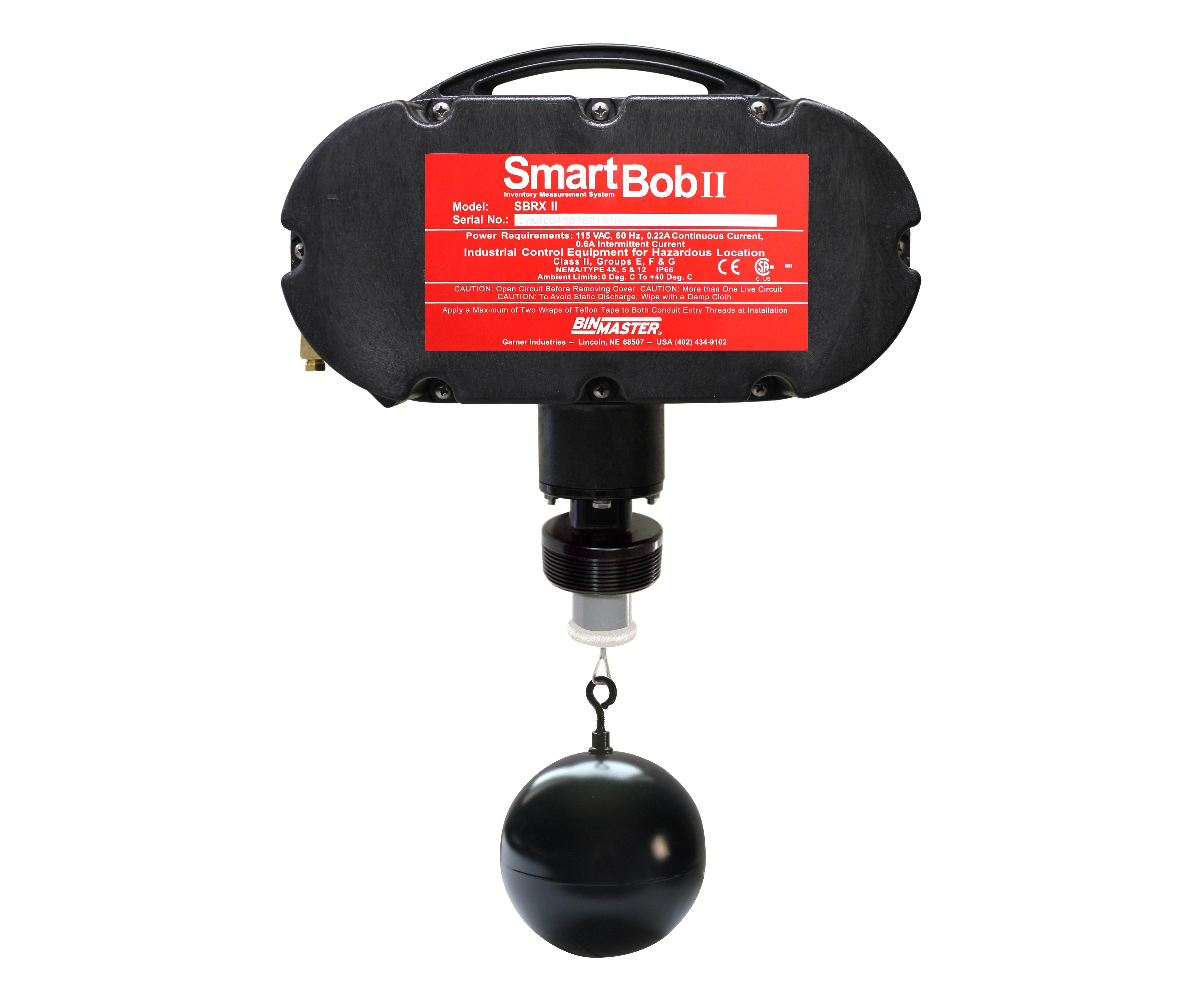 SmartBob from BInmaster with Teflon-coated sphere.