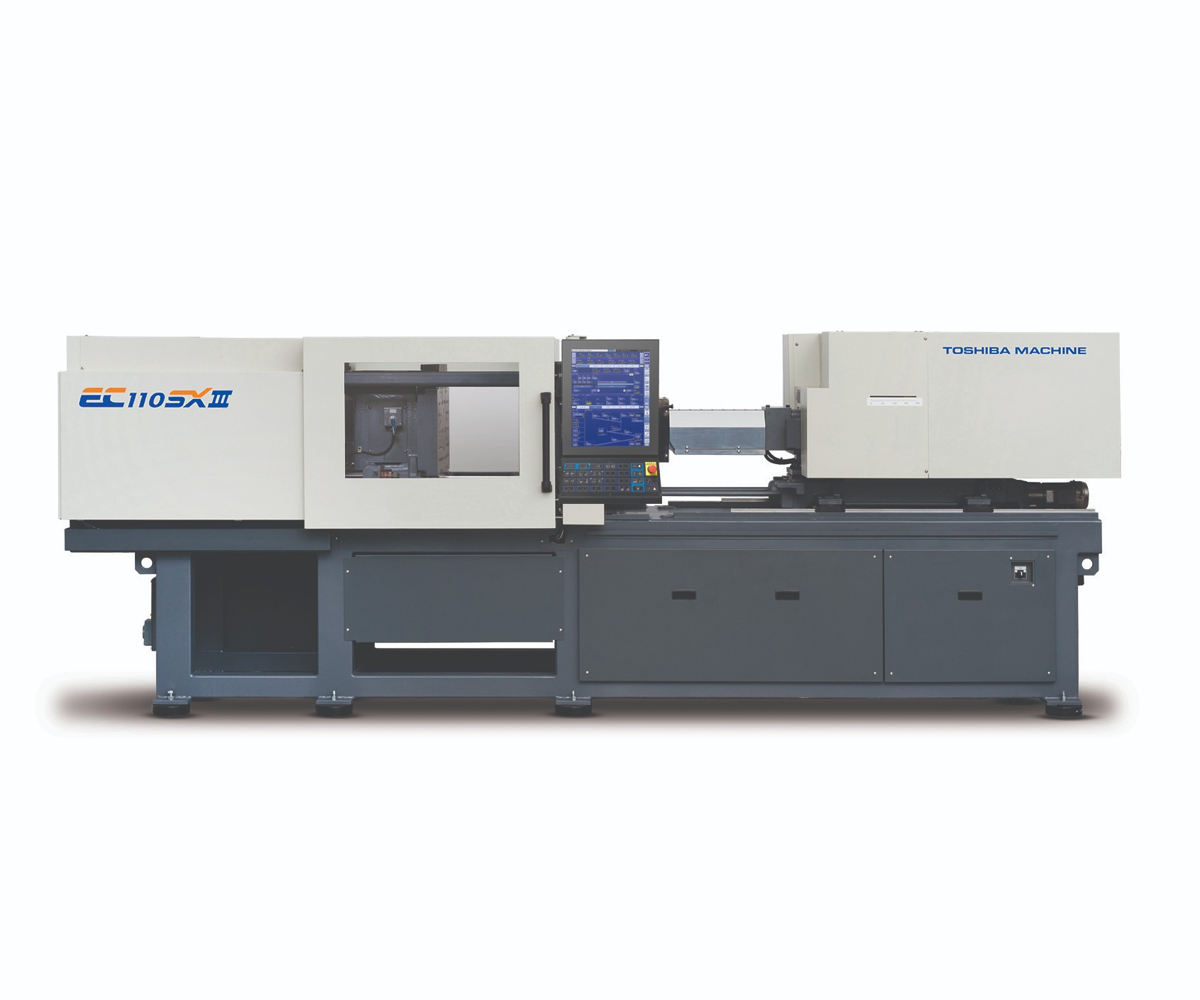 Toshiba's new ECSXIII all-electric injection molding machine with new Injectvisor V70 controller.
