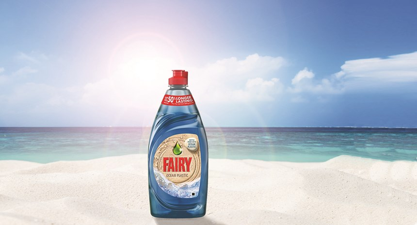 "P&G TerraCycle ""Fairy Ocean Plastic"" bottle"