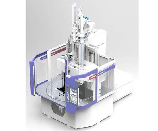 Wittmann Battenfeld VPower vertical injection molding press