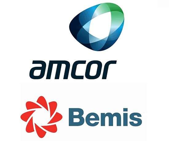 Amcor and Bemis logos