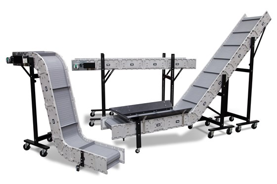Part Conveyor with Quick-Disconnect Motors