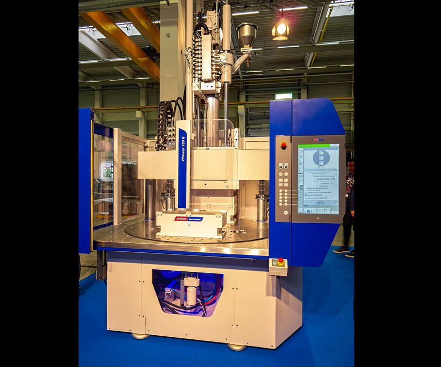 Wittmann Battenfeld's new VPower line of vertical injection molding presses.