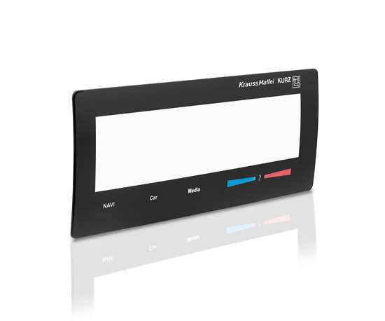 10-in. HMI display frame with IMD and IML.