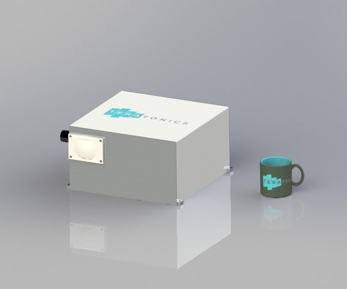 TrexelVision THz system allows packaging the spectral emitter and detector in one unit for single-sided part inspection