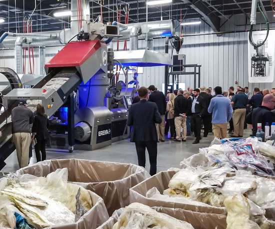 Recycling film at Erema North America's Discovery Day