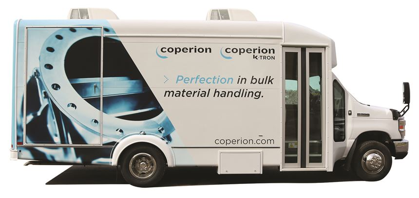 Coperion's Traveling Display for Feeding and Conveying