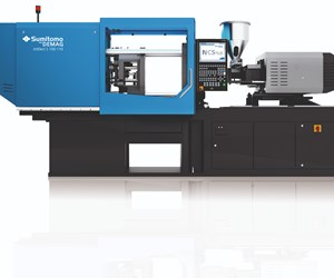 SumitomoDemag IntElectS 100-ton injection molding press.