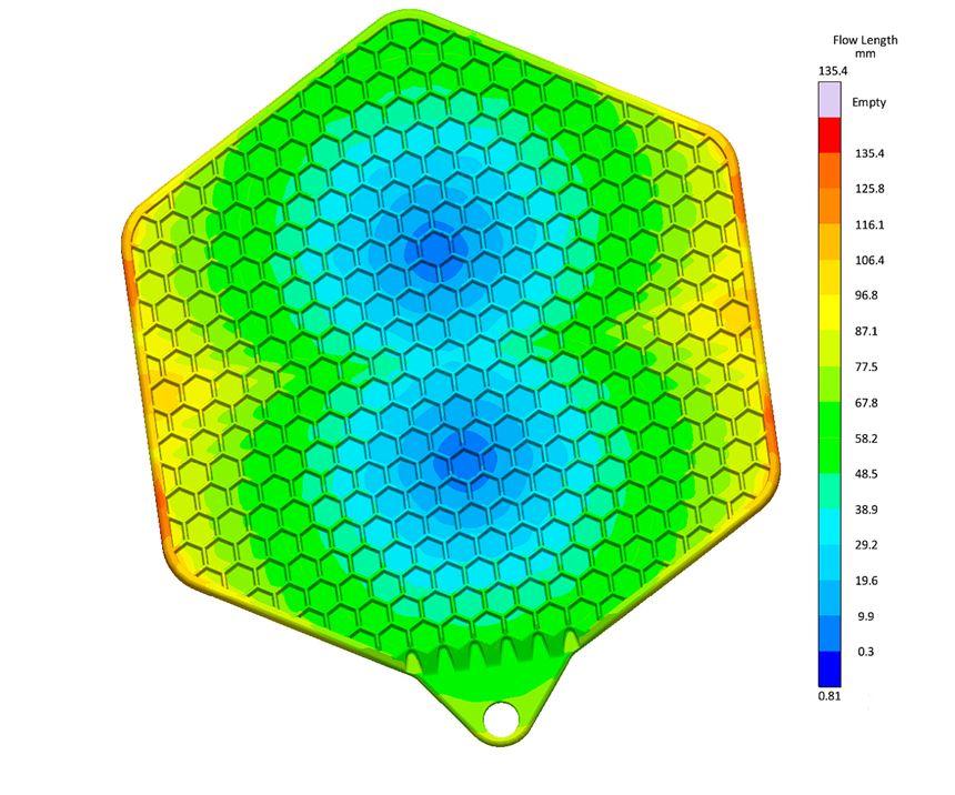 Sigmasoft Autonomous Optimization automatically determined optimum placement of two gates