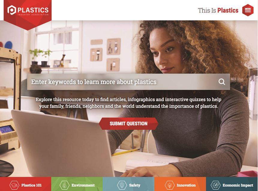 PLASTICS Industry Association website thisisplastics.com