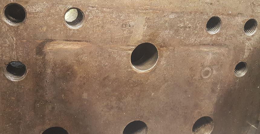 platen wrap on mold corners