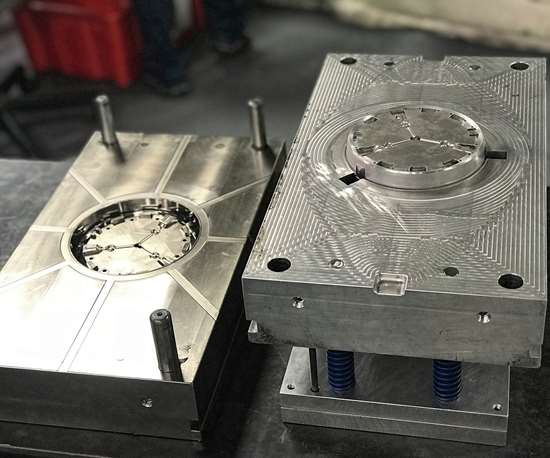 """The """"a"""" and """"b"""" sides of an aluminum production tool from Phoenix Proto Technologies."""