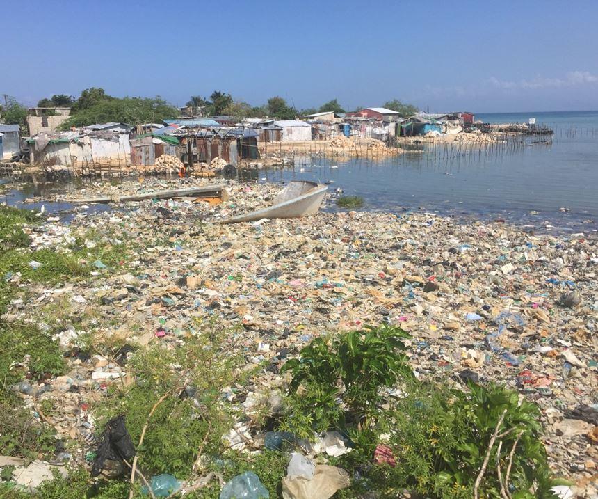 plastic waste in Haiti